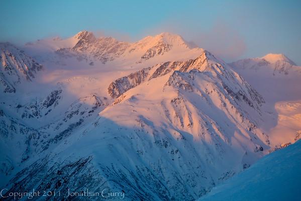 1360 - Chugach Mountains at Sunset, Alaska