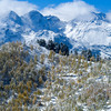1079 - Early snowfall dusts the mountains and trees in the Wasatch Range, Utah.