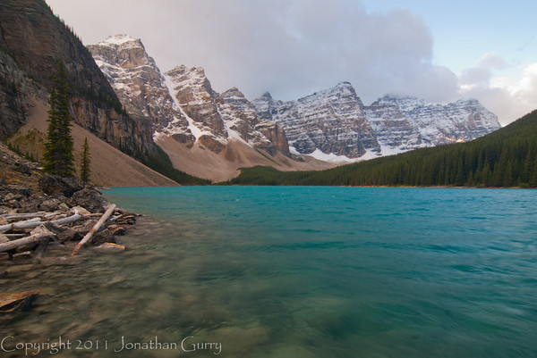 1265 - Saint Mary Lake in the Valley of the 10 Peaks.  Banff National Park, Alberta, Canada.
