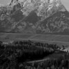 1075 - Ansel Adams made this overlook of the Grand Tetons and Snake River famous in the early 1900's. Wyoming.