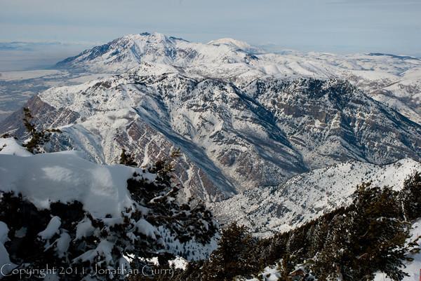 1113 - Ben Lomond Peak from Snowbasin, Utah.