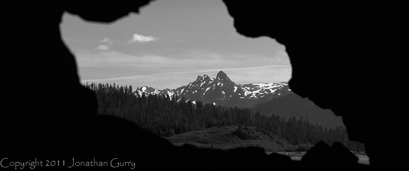 1037 - Chugach Mountains thru a cave, Alaska.