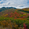 1061 - Painted fall mountains.  Wasatch Range, Utah.