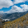 1082 - Early snowfall dusts the mountains and trees in the Wasatch Range, Utah.