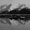 1312 - Chugach Mountains reflected  in the Turnagain Arm.  Alaska.