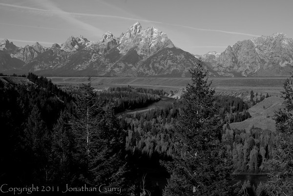 1074 - Ansel Adams made this overlook of the Grand Tetons and Snake River famous in the early 1900's. Wyoming.