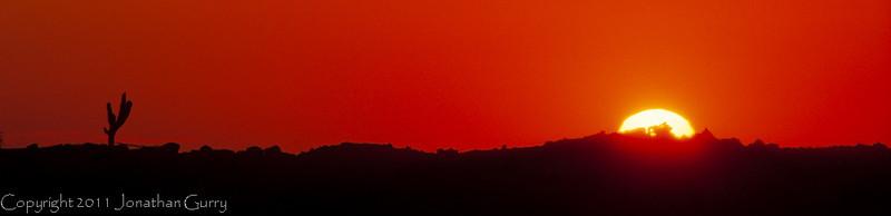1016 - Sunrise in the desert.  Cabo San Lucas, Mexico.