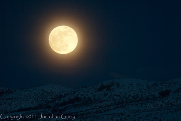 1304 - Moonrise in the Wasatch Mountains, Utah.