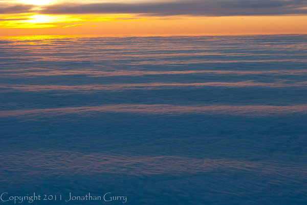 1303 - Sunset over the clouds.