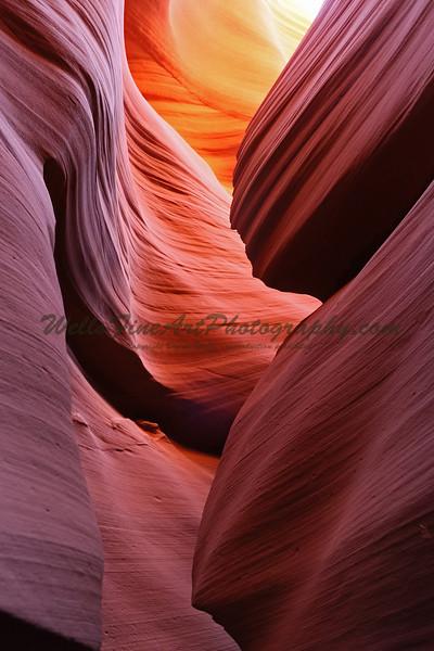 Soft Light Above, Lower Antelope Canyon, AZ