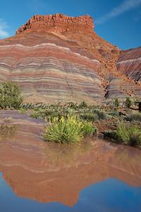 Reflections of Banded Rock, Pahreah, Utah
