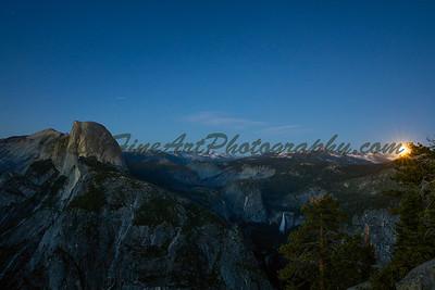 Solstice Moonrise, Glacier Point, Yosemite