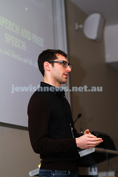 "8-6-14. Limmud Oz 2014. ""Hate speech and free speech: human rights, civil liberties and the 18c debate""  Daniel Meyerowitz-Katz.. Photo: Peter Haskin"