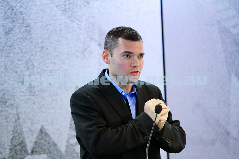 "8-6-14. Limmud Oz 2014. ""Still Liberal after all these years? Jews in America"". Peter Beinart. Photo: Peter Haskin"
