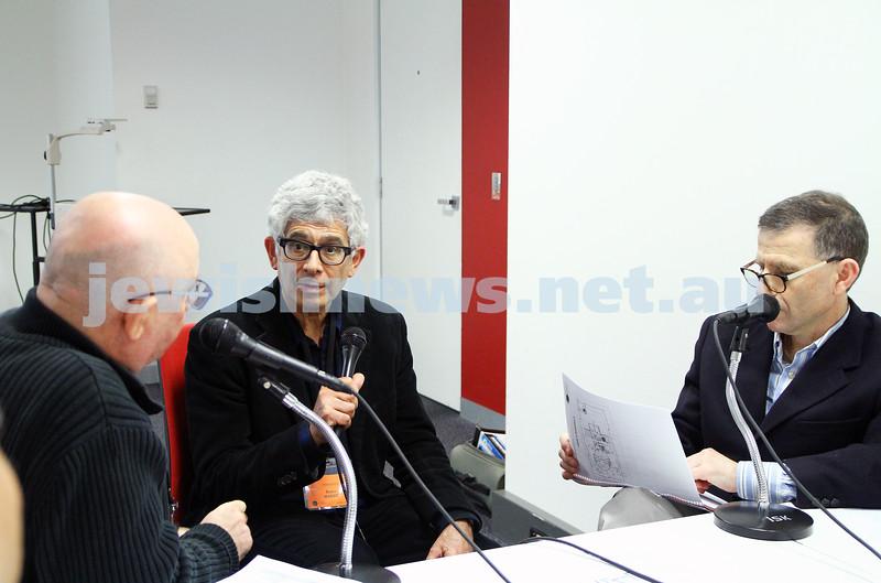 8-6-14. Limmud Oz 2014. Robin Margo (centre) being interviewed on J - Air. Photo: Peter Haskin