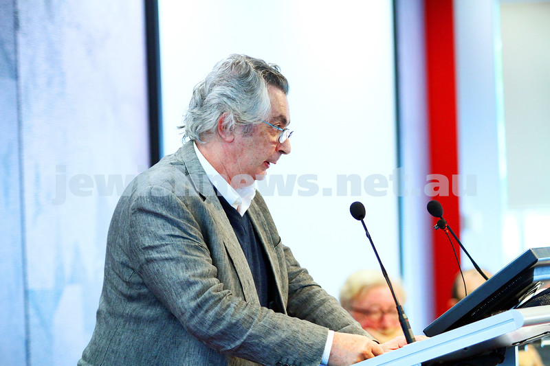 "8-6-14. Limmud Oz 2014. ""Asylum seekers: facts, politics and ethics""  Robert Manne. Photo: Peter Haskin"