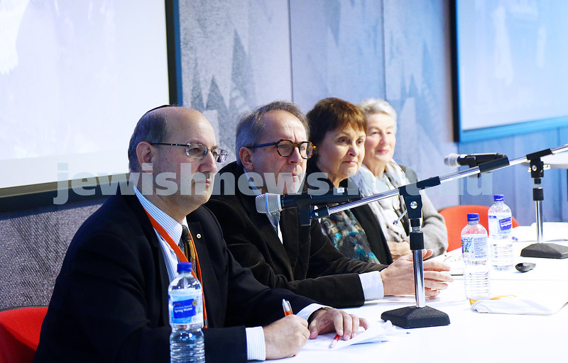 27-6-16. Limmud Oz. Melbourne 2016.  Jews and Poles. From left: Jeremy Jones, Adam Warzel, Ann Drillich, Nina Bassat. Photo: Peter Haskin