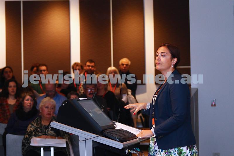 27-6-16. Limmud Oz. Melbourne 2016. Annika Hernroth-Rothstein. Jews in Iran. Photo: Peter Haskin