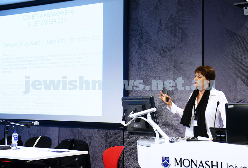 27-6-16. Limmud Oz. Melbourne 2016. Ann Drillich. Jews and Poles. Photo: Peter Haskin