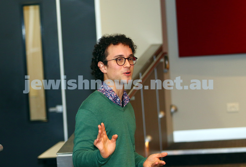 27-6-16. Limmud Oz. Melbourne 2016. Sam Bookman. Photo: Peter Haskin