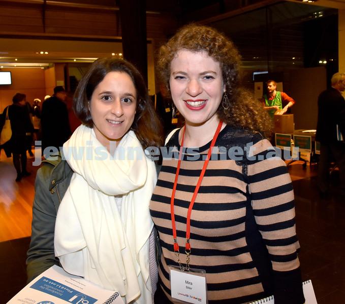 Limmud Oz 2017. Gabrielle Souery (left), Mira Biller. Pic Noel Kessel