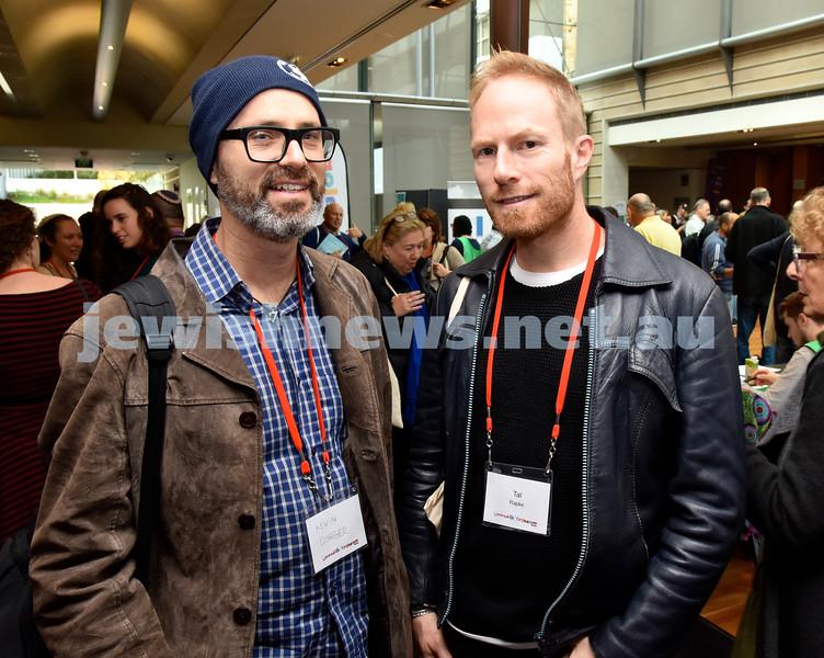Limmud Oz 2017. Kevin Garber (left), Tal Rapke. Pic Noel Kessel