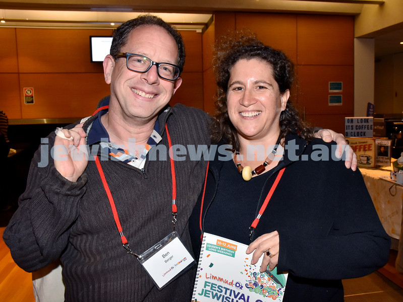 Limmud Oz 2017. Ben and Sharon Berger. Pic Noel Kessel