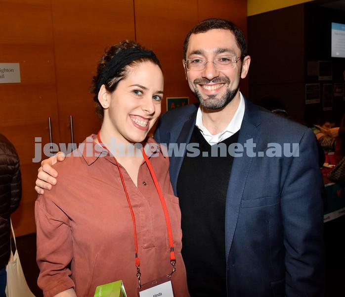 Limmud Oz 2017. Hinda Young (left), Rabbi Ben Elton. Pic Noel Kessel