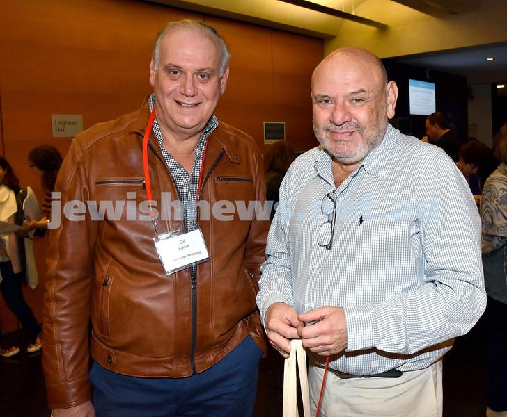 Limmud Oz 2017. Gil Kleiner (left), Zev Mekler. Pic Noel Kessel