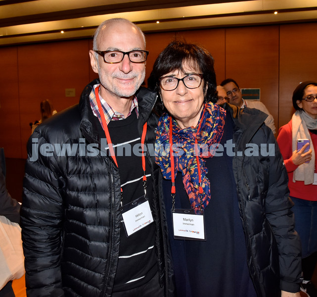 Limmud Oz 2017. Hilton and Marilyn Immerman. Pic Noel Kessel