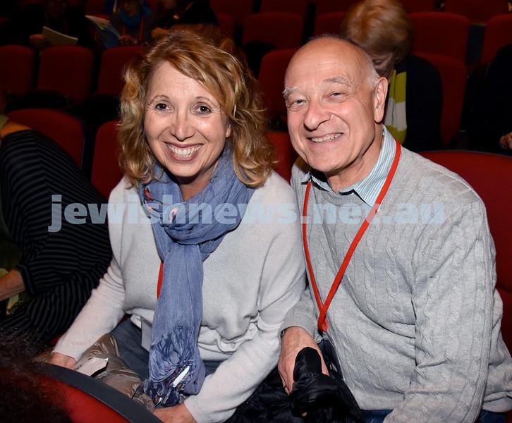 Limmud Oz 2017. Susan and Stephen Cohen. Pic Noel Kessel
