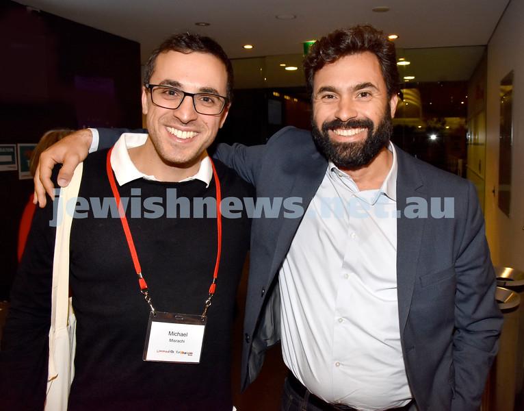 Limmud Oz 2017. Michael Misrachi (left), Uri Zaki. Pic Noel Kessel