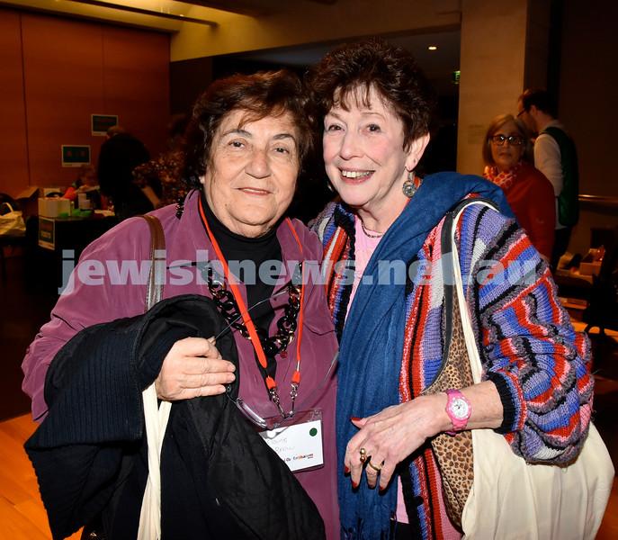 Limmud Oz 2017. Elaine Brow (left), Anna Berger. Pic Noel Kessel