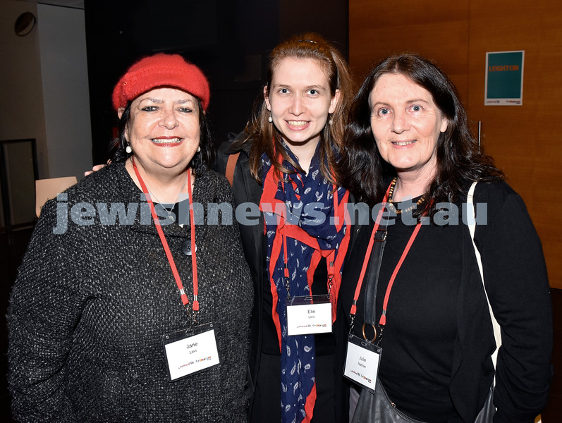 Limmud Oz 2017. From left: Jane Levi, Eli Levi, Julie Nathan. Pic Noel Kessel