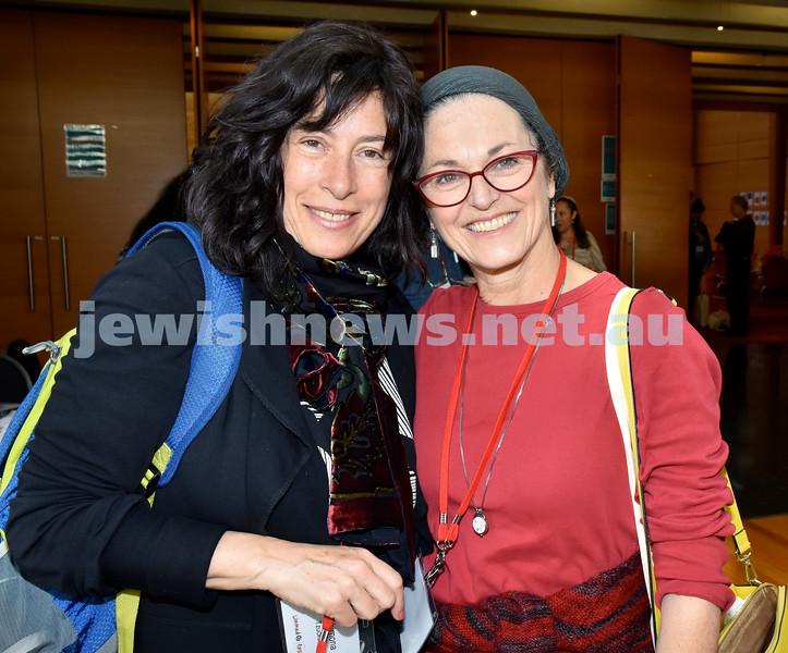 Limmud Oz 2017. Shimona Tzuckernick (left), Jodi Kofsky. Pic Noel Kessel