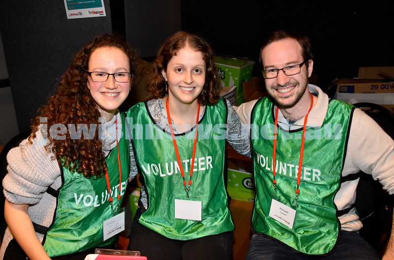 Limmud Oz 2017. From left: Sarah Miller, Amalia and Richard Czeizler. Pic Noel Kessel