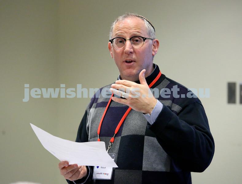 Limmud Oz 2017. Rabbi Gary Robuck. Pic Noel Kessel