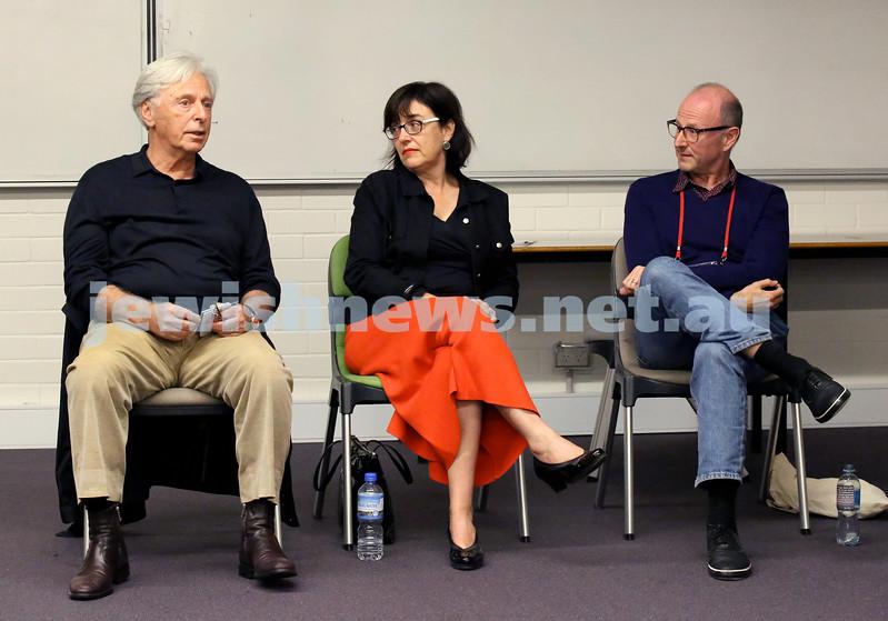 Limmud Oz 2017. Robert Magid, Fiona Harari, Michael Visontay. Pic Noel Kessel