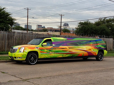 Custom Limo Wrap in Dallas, TX www.skinzwraps.com