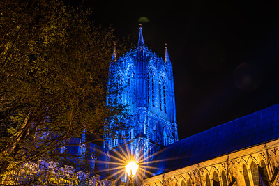 Lincoln cathedral goes blue 4