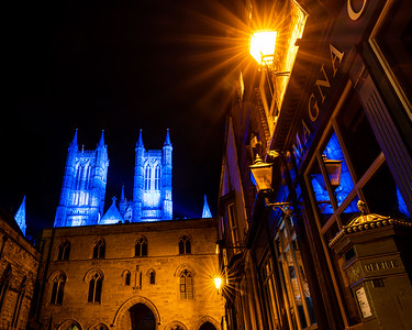 Lincoln cathedral goes blue 8