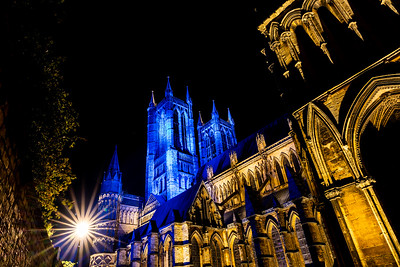 Lincoln cathedral goes blue 6
