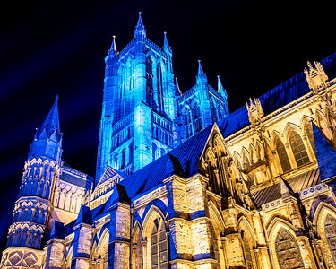 Lincoln cathedral goes blue 2