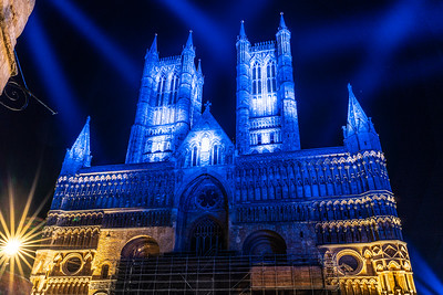 Lincoln cathedral goes blue 7