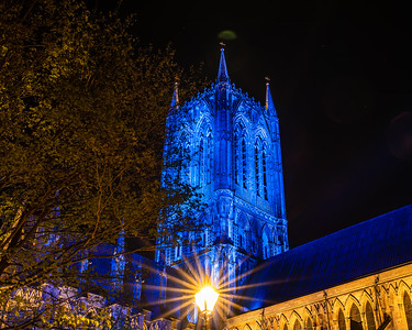 Lincoln cathedral goes blue 5
