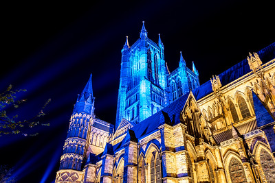 Lincoln cathedral goes blue 3