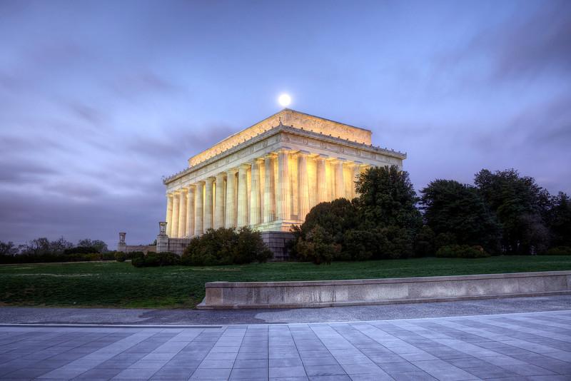 Lincoln Memorial Moon