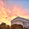 Lincoln Sunset in Washington DC