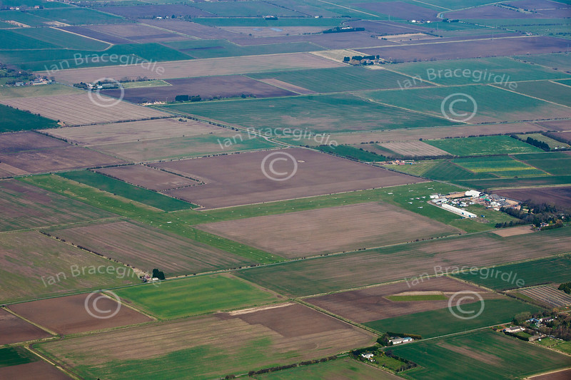 Aerial photo of Fenland Airfield.