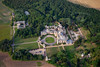 Aerial photography of the University of Evansville at Harlaxton near Grantham, Lincolnshire.